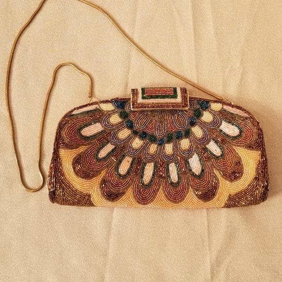 Jeromes Hong Kong Handbags - Gorgeous Vintage Beaded Evening Bag